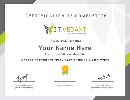 Master certification in Data science and analytics