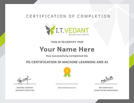 Pg certification in Machine Learning and AI